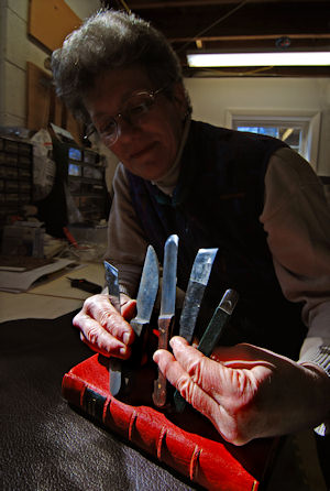 Paring and Lifting Knives for Book Binding and Book Repair