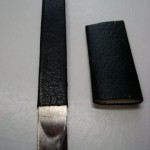 Rounded steel blade, 1/2 inch wide in French style for paring or scraping.