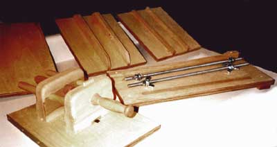 Bindery in a Box Boards, platens, plough
