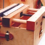 "Bindery in a Box Lying press and plough ""in place""on the Box"