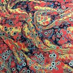 Tiger Eye Marbled Paper by Dea Sasso